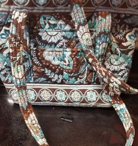Vera Bradley Medium Shoulder Bag in Java Blue